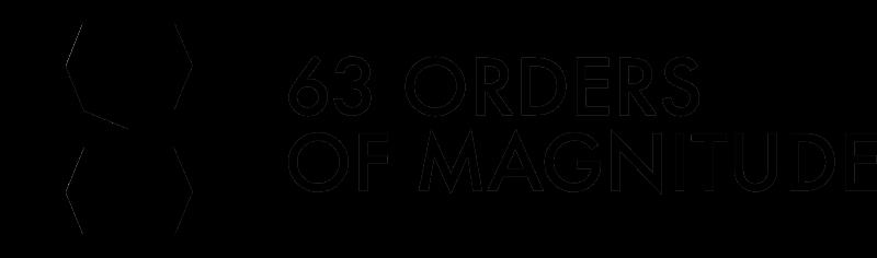 63 orders of magnitude
